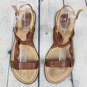 BOC   strappy open toe flat sandals